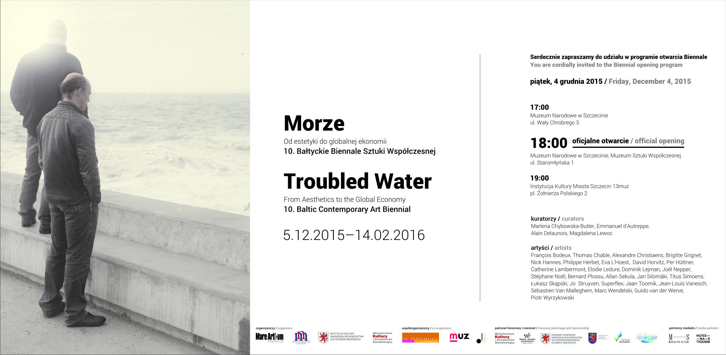 zaproszenie Morze. Troubled Water